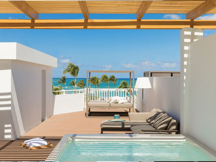 Excellence Punta Cana Honeymoon Suite with Rooftop Terrace Ocean Front