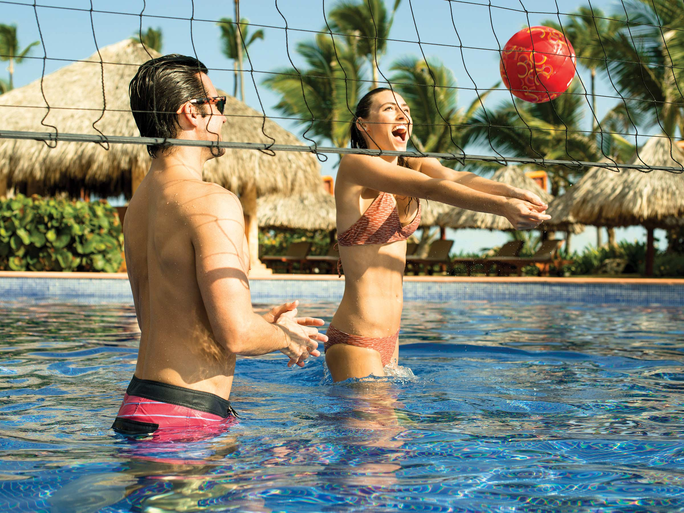 Pool Volleyball at a Punta Cana Resort